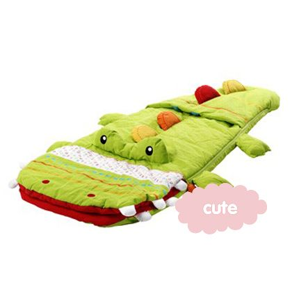 Crocodile sleeping bag