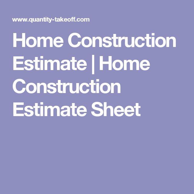 Construction estimator ile ilgili Pinterestu0027teki en iyi 25u0027den - estimate sheet