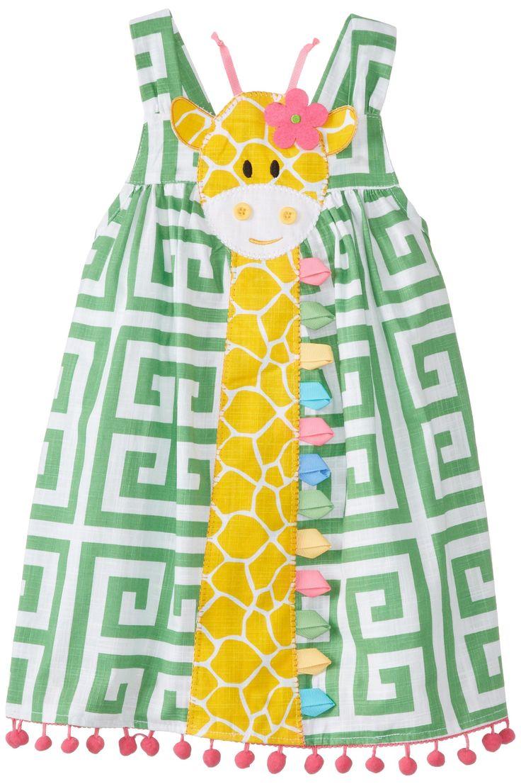 Amazon.com: Mud Pie Little Girls' Giraffe Dress, Green, 4T: Clothing