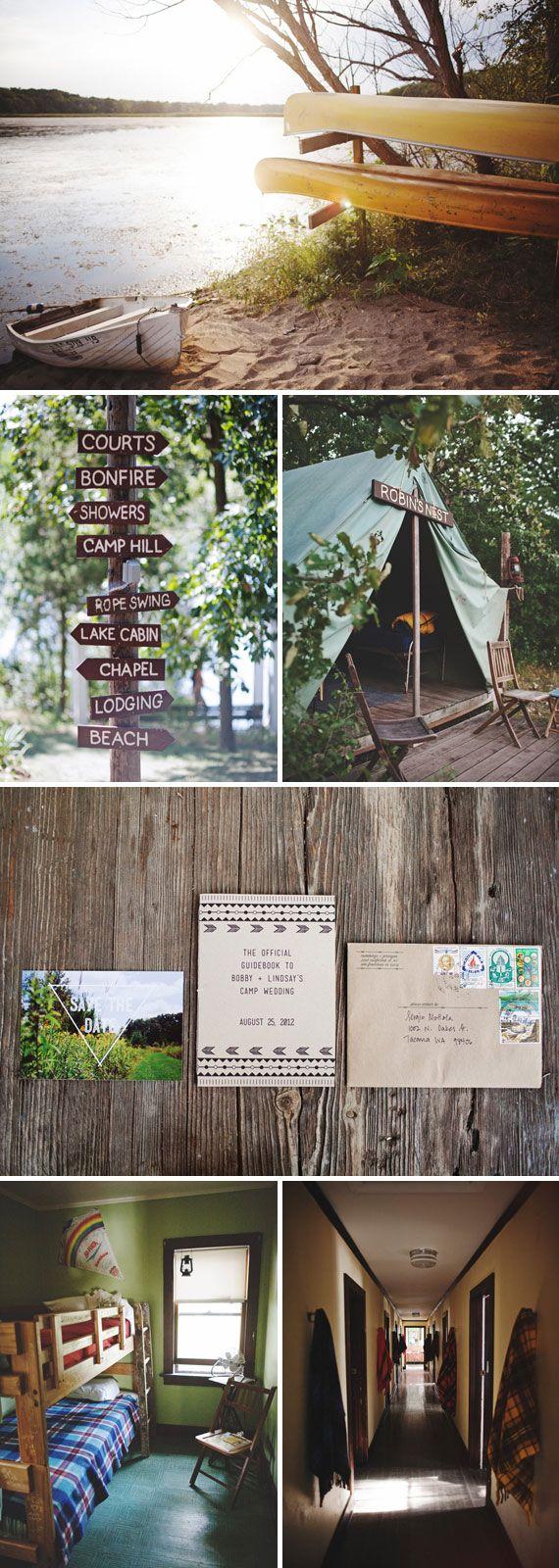 amazing camp wedding on Etsy blog