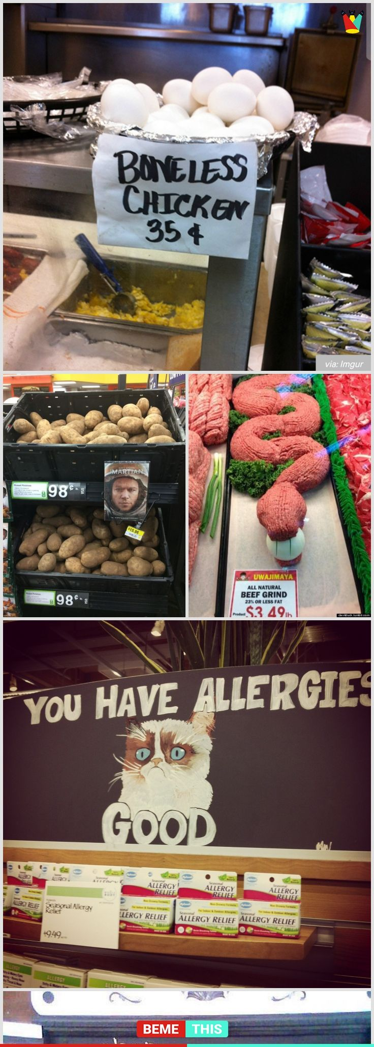 10+ of the Most Funniest Grocery Store Signs Written By Most Creative Souls #funnypictures #grocery #signs #creativity