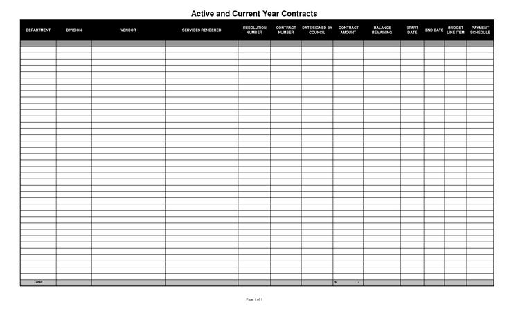 Download Blank Excel Spreadsheet Templates | Contracts Spreadsheet