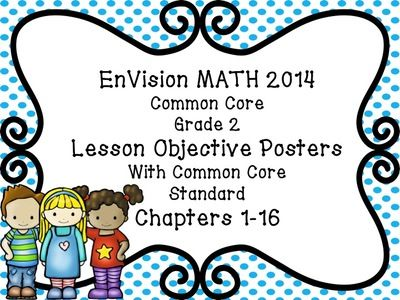 EnVision Math Grade 2 Learning Objective Vocab Posters Polka Dots from TCHR2.0 on TeachersNotebook.com - (189 pages) - EnVision Math Grade 2 Learning Objective Vocabulary Posters Math Focus Wall