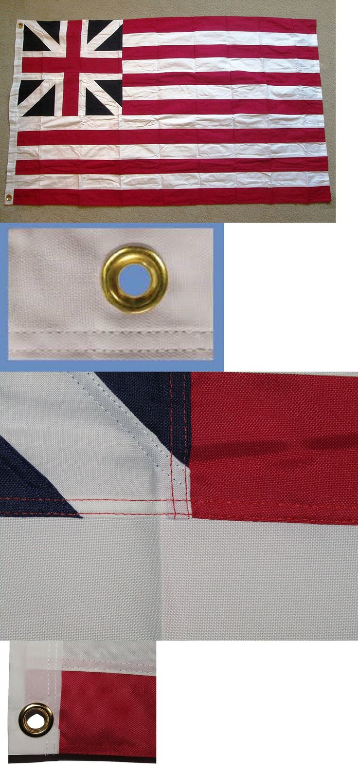 Flags 43533: 3X5 Grand Union Embroidered Cotton Flag First American Revolutionary War Flag -> BUY IT NOW ONLY: $43.88 on eBay!