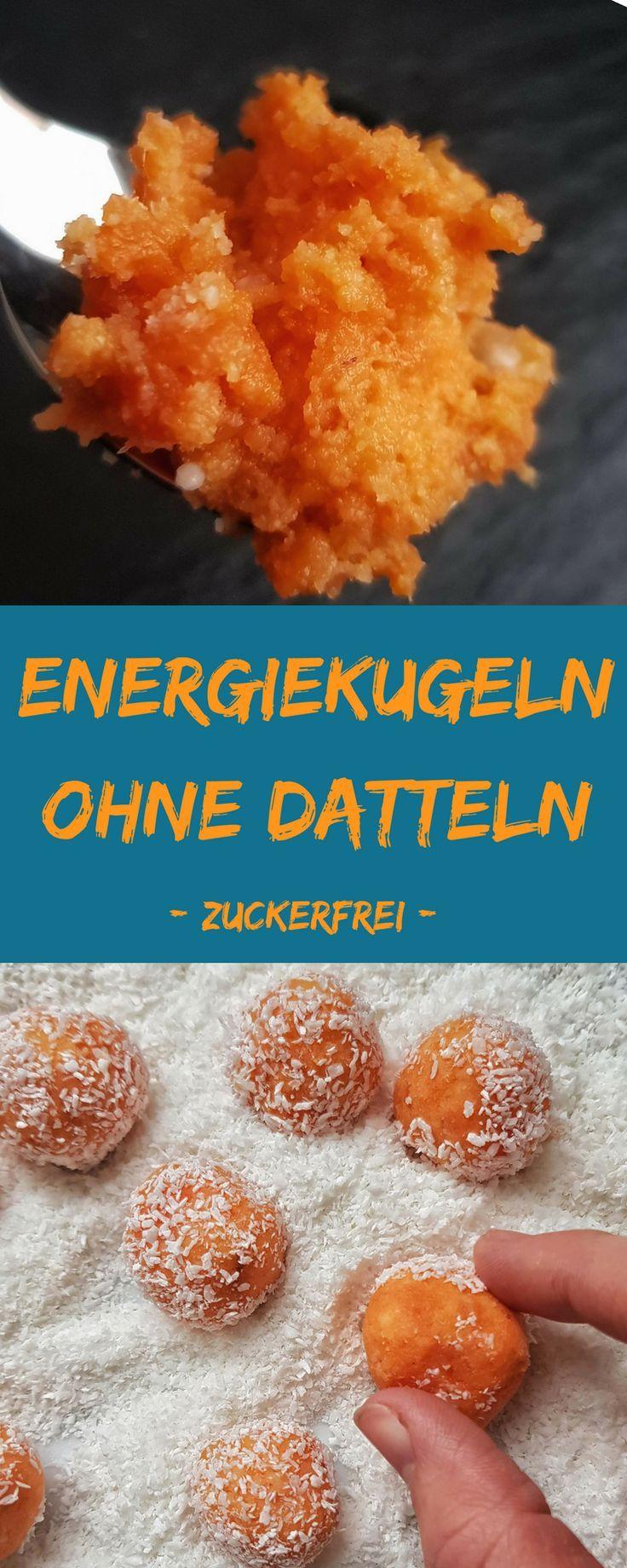 Pralinen ohne Zucker kann man ganz einfach machen - diese Energiekugeln sind ohne Datteln und ohne Zucker. Nur aus Süßkartoffeln und Kokos schmecken sie lecker frisch. . #zuckerfrei #ohnezucker #rezept #praline #energiekugel #energyball