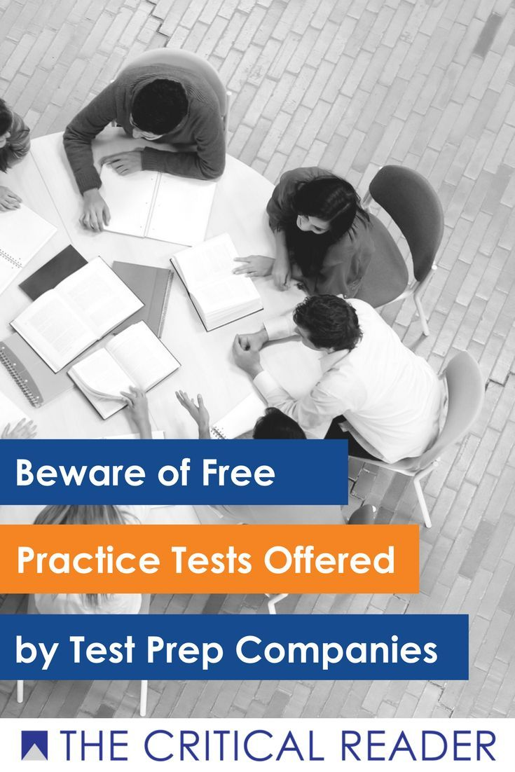 Beware of free practice tests offered by test prep companies