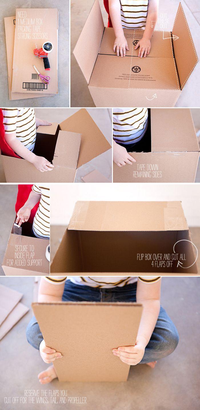 how to make a cardboard airplane