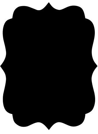 Large Chalkboard Vinyl Decal - Scalloped Rectangle. $15.00, via Etsy. I could do so much with this!