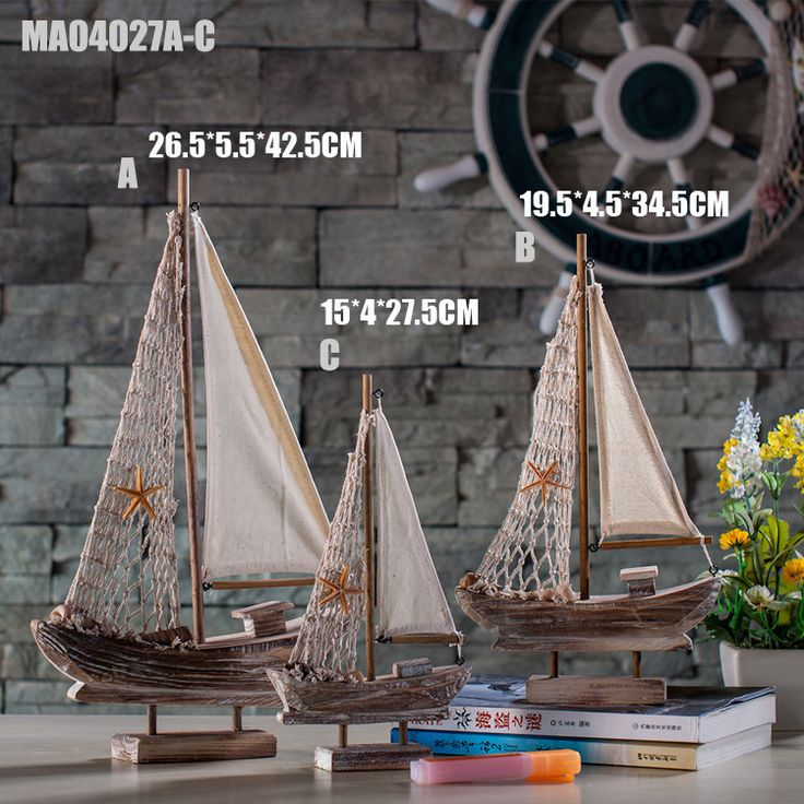 New Home Furnishing Mediterranean Retro Sailing Boats Model  home decoration accessories home decoration accessories