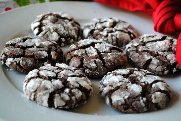 chocolate crinkle cookies from a cake mix. I'm thinking you could easily substitute the oil with ff greek yogurt so they are healthy :)