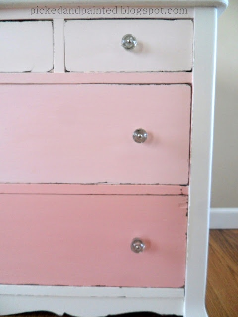 Picked Amp Painted Pink Ombre Dresser Furniture Redos