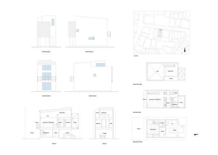 Home & Apartment:Minimalist Japanese House Sketch Drawing Design Architecture Beautiful Minimalist Japanese Residence Making the Most of a N...