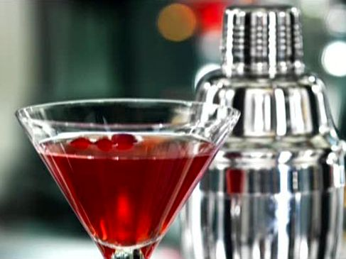 Kickin' Cranberry Cosmo recipe from Food Network Specials via Food Network