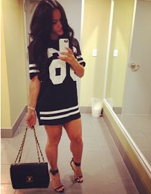 I really want this! This is a football jersey dress :)