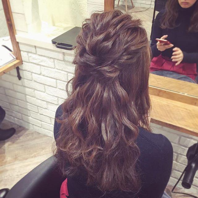 hairarrange* * *  #ヘアアレンジ #ヘアセット #結婚式 #パーティー #二次会 #ブライダル #ウェディング #東京 #渋谷 #kanekoarrange #卒業式