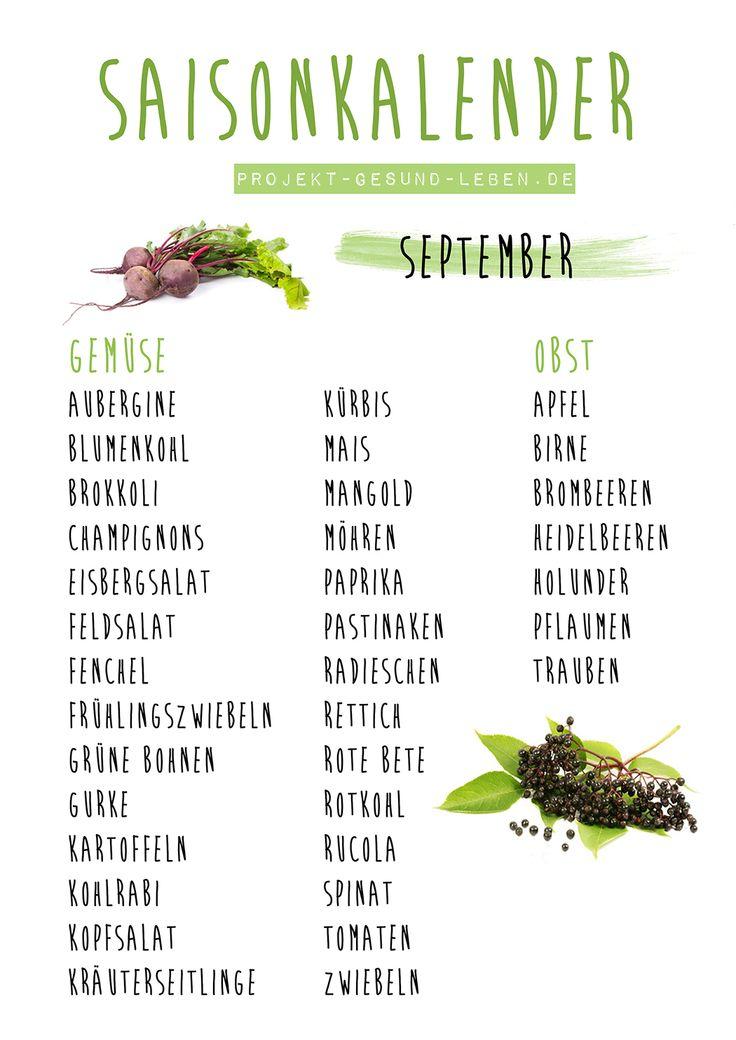 Saisonkalender September | Projekt: Gesund leben | Ernährung, Bewegung & Entspannung
