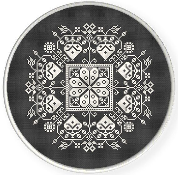 Instant Download,Free shipping,Cross stitch pattern, Cross-Stitch PDF, vintage chinese folk,hearts  pattern design ,zxxc0595