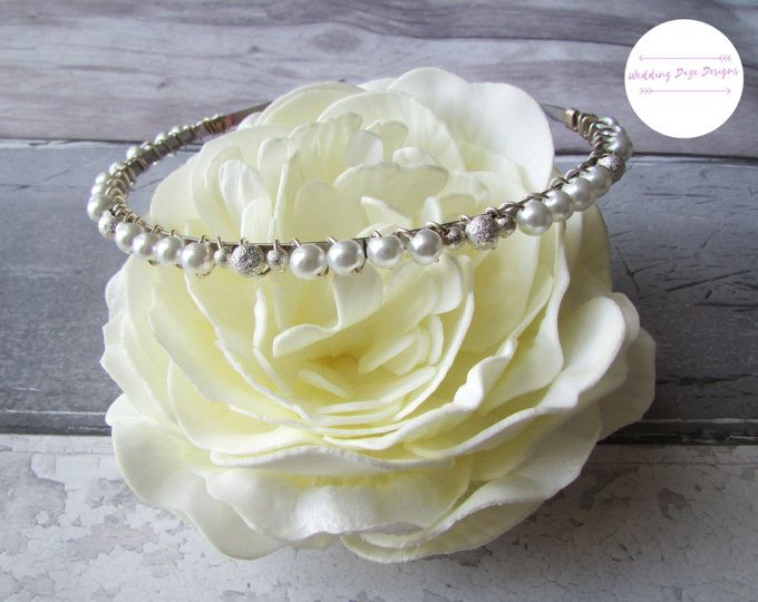 Pearl Bridal Hairband, Bridal Headband, Bridesmaid Headband,Pearl Hairband, Bridal Hairband, Bridesmaid Hairband,Wedding Headband