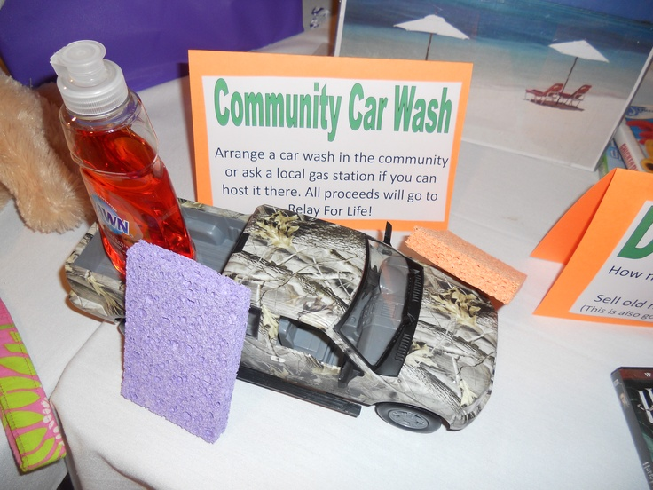 car wash fundraiser table sign