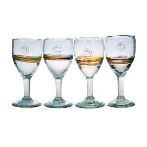 Amici Rainbow Set of 4 Goblets, 12-Ounce