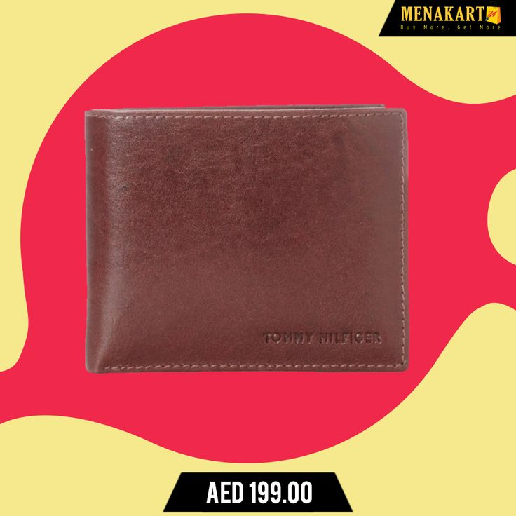 Tommy Hilfiger Men's Leather York Passcase Wallet- TAN. #Wallets #TommyHilfigerWallets #WalletsForMen #online #shopping #menakart