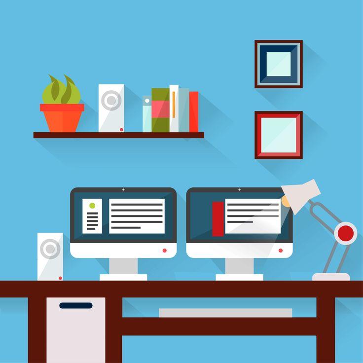 Blue Office Desk