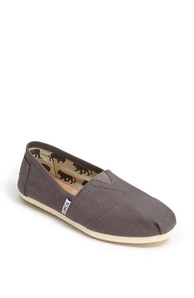 These are the ones I like. Size 7.5, color Ash. TOMS 'Classic' Canvas Slip-On (Women) | Nordstrom