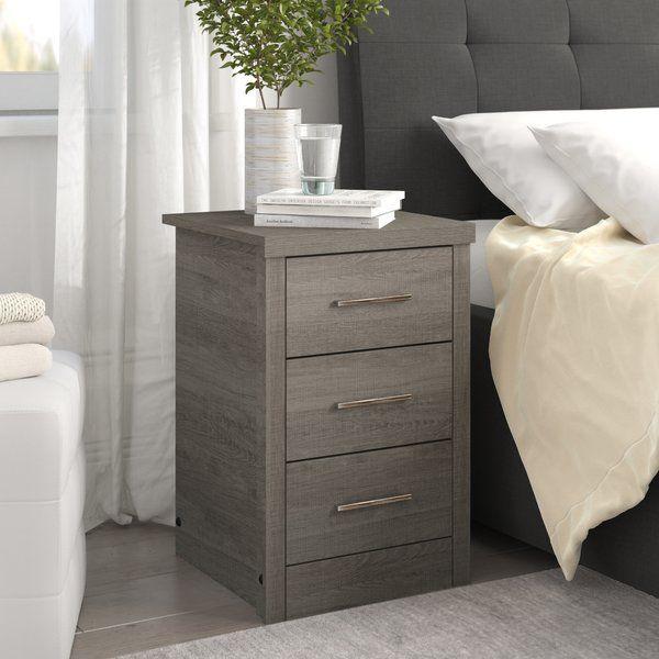 Lehigh 3 Drawer Bedside Table 3 Drawer Bedside Table Bedroom Furniture Sets Black Bedside Table