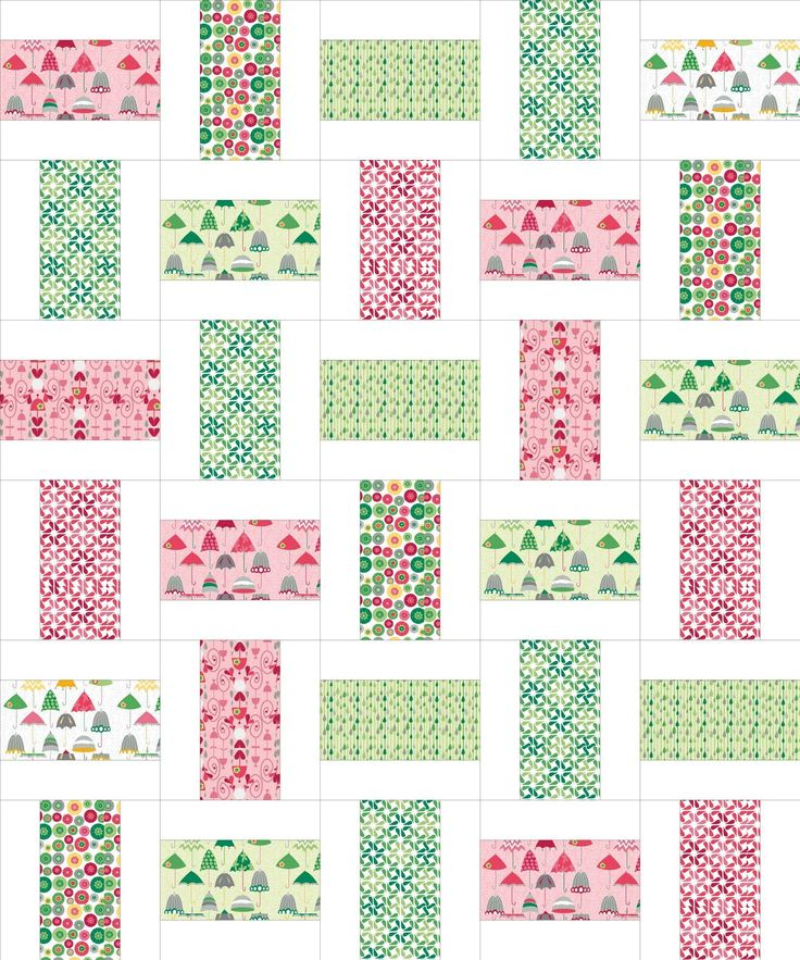 simple but pretty quilt from sew we quilt and stash Could be a great way to highlight a favorite fabric.