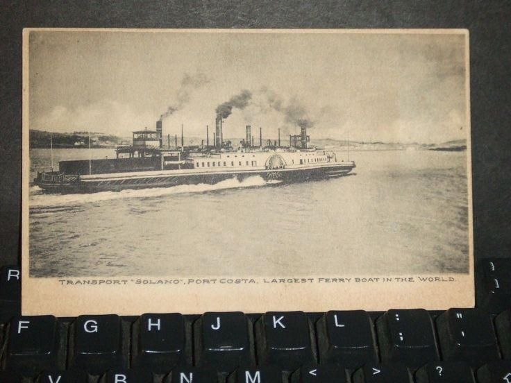 Solano Ferry Naval Cover San Francisco Bay Port Costa Calif | eBay