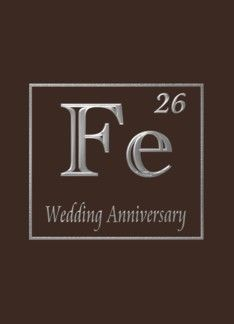 6th iron wedding anniversary congratulations, An expression of iron in its chemical form (968587)