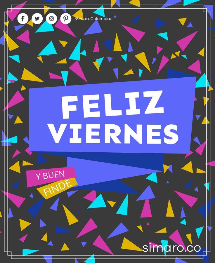 Buenos días y #FelizViernes    http://simaro.co @SimaroColombia #SimaroColombia #HappyFriday #FelizFinDeSemana #Weekend #SimaroCo #LoEncontramosPorTi #SimaroBr #SimaroMx #TiendaOnline #Diversion #Novedades #Compras #Regalos #Descuentos #ECommerce