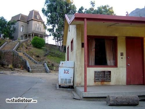 Along with the Psycho House (aka the Bates Mansion), the Bates Motel buildings have been moved around the backlot since the original shoot in 1960. See alsoPsycho Housefor more details. Bates Motel The Bates Motel interiors, including the shower scene,...Read more