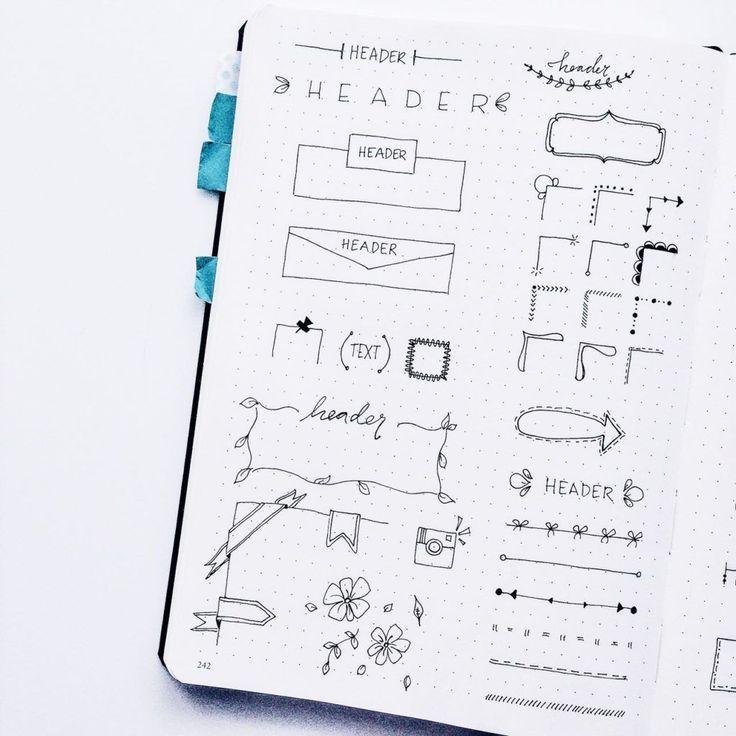 Planner Doodles - Inspiration for your Bullet Journal - ForeverGoodLife