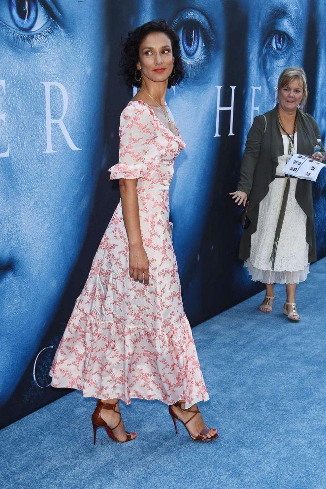 Indira Varma Game Of Thrones Season 7 Premiere In Los