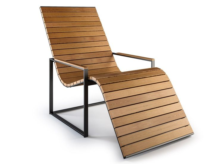 Röshults Garden Outdoor Sun Lounge Chair by Broberg & Ridderstråle - Chaplins
