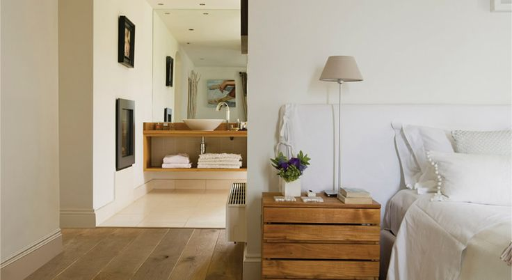 En-suite Bathroom, Private residence, Cornwall / Headboard....