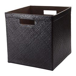 "IKEA - BLADIS, Basket, 12 ½x13 ½x12 ½ "", , Suitable for storing your recipes, receipts, newspaper clippings and photos.Easy to pull out and lift as the basket has handles."