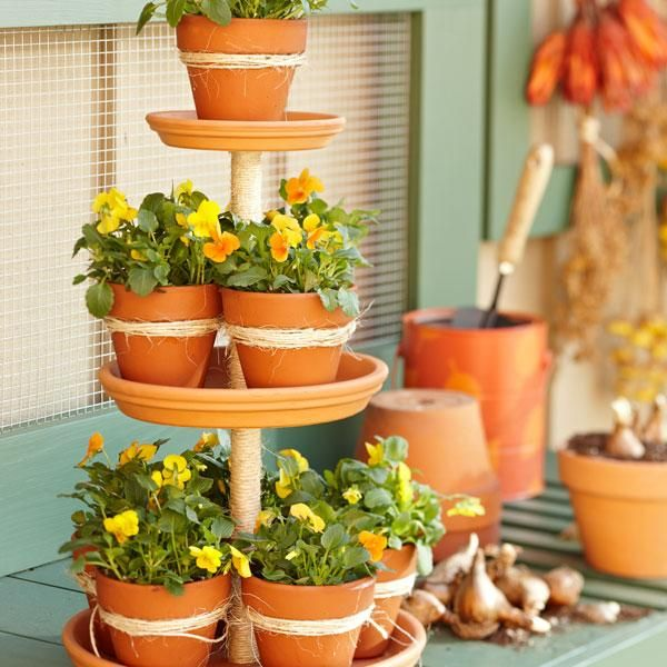 64 Best Images About Diy Tiered Planter On Pinterest 640 x 480
