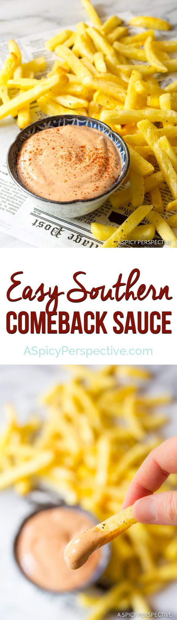 Easy Southern Comeback Sauce Recipe | http://ASpicyPerspective.com