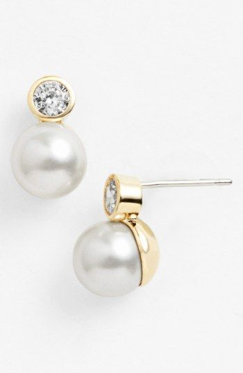 Free Shipping And Returns On Nadri Romancing Pearl Faux Stud Earrings At Nordstrom Sparkling Touches Refresh The Clic Eal Of These