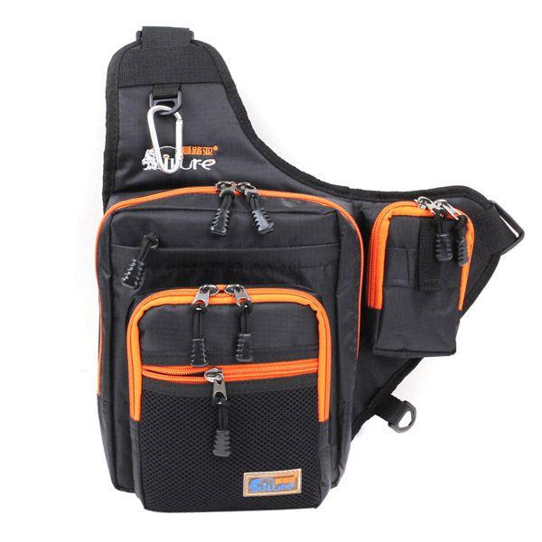 Sale 25% (30.99$) -  iLure Waterproof Canvas Fishing Bag Multi-Purpose Outdoor Bag Reel Lure Bags Pesca Fishing Bag