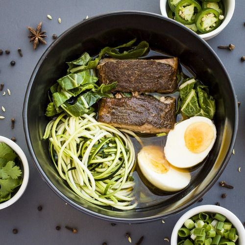 Faux Pho with Chinese 5 Spice Short Ribs from Well Fed #paleo #recipe