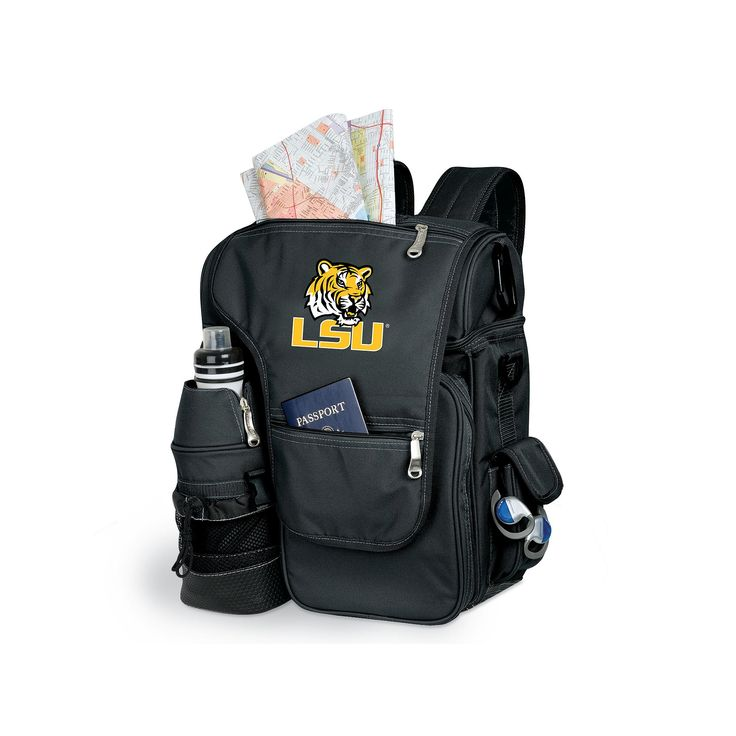 LSU Tigers Insulated Backpack, Black