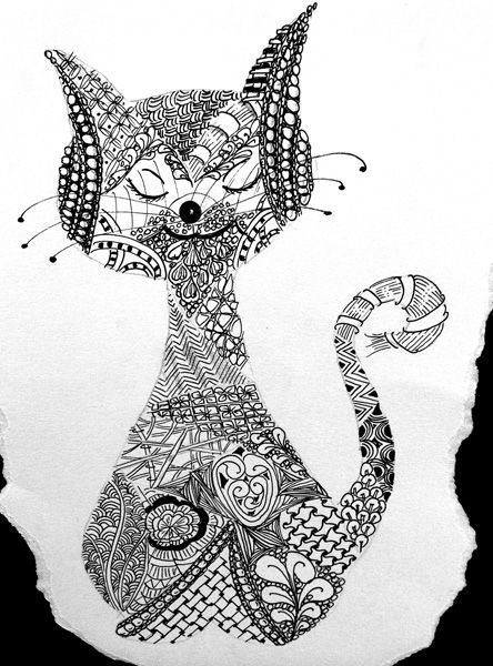 Zentangle Cat Patterns D23816202adcbd6f3d1433d45a5cc3