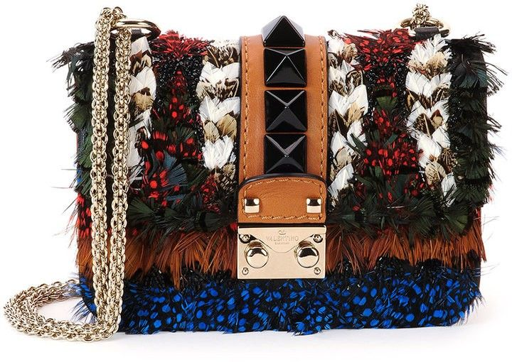 Take a look at this Feather Mini-Lock Shoulder Bag by Valentino!