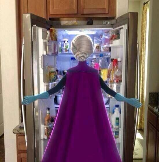 love is an open door   the cold never bothered me anyway
