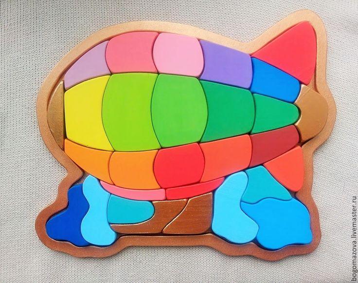 Купить Игрушка деревянная.Дирижабль-воздушный шар -ракета-самолет - разноцветный, дерево, вальдорфская игрушка