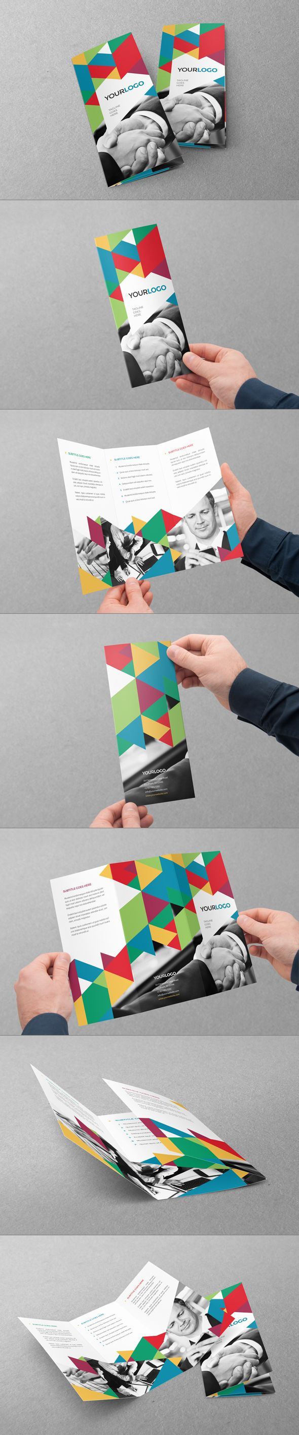 Colorful Business Trifold by Abra Design, via Behance