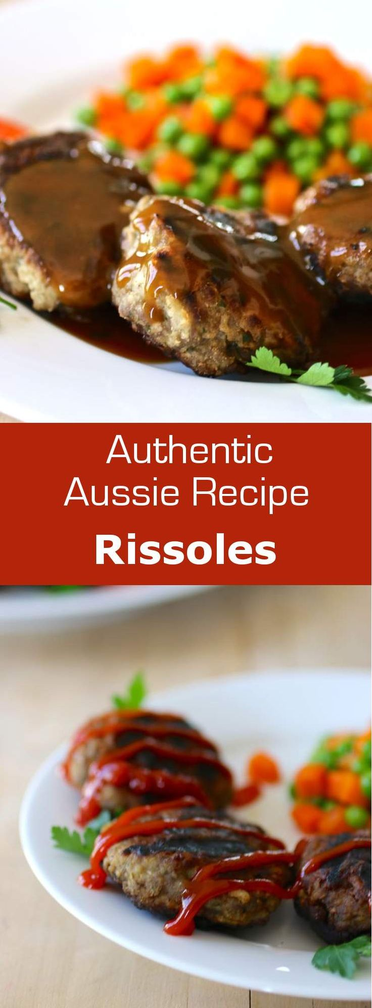 (Vegetarianise) Australian rissoles are meat patties that are grilled on the BBQ. Depending on the recipe, these patties can include grated vegetables. #beef #australia
